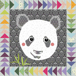 Spots - Panda - 30x30 Laser Cut Applique Quilts