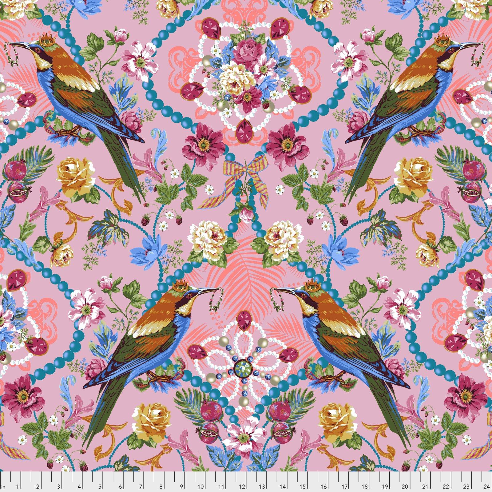 Jardin de la Reine by Odile Bailloeul for Free Spirit Fabrics - The Queen's Jewels - Rose