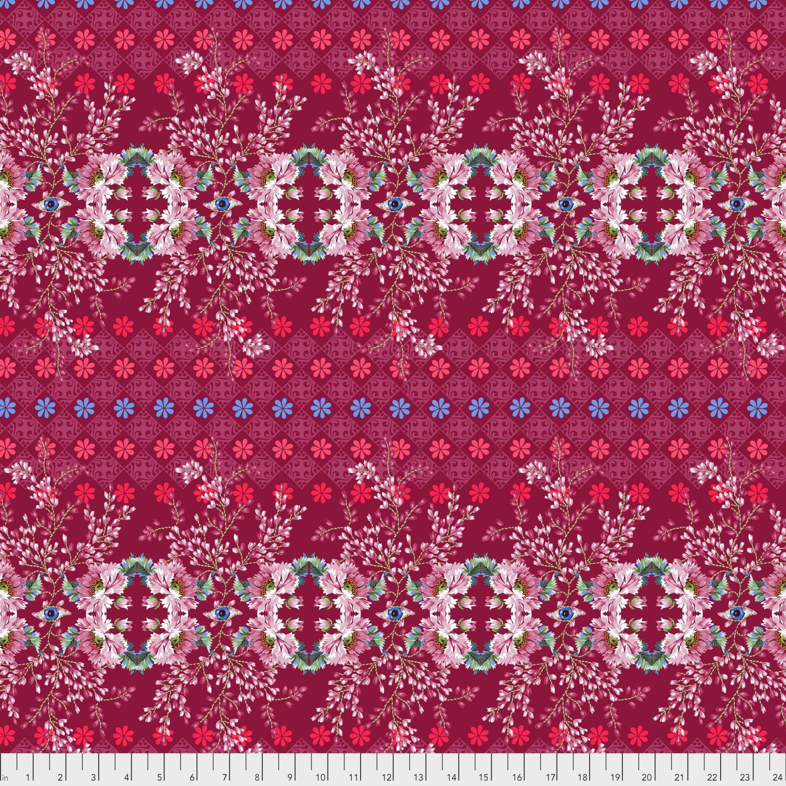 Jardin de la Reine by Odile Bailloeul for Free Spirit Fabrics - The Queen's Spy - Rose