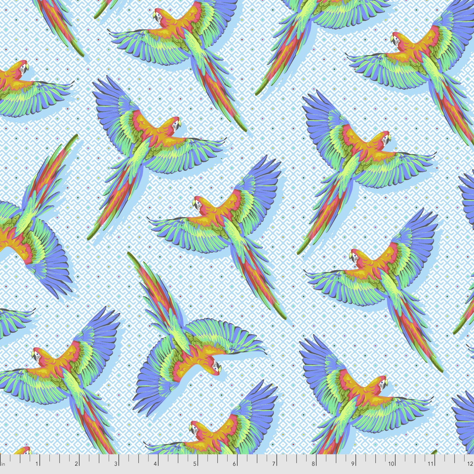 Pre-Order - Daydreamer by Tula Pink for Free Spirit Fabrics - Macaw Ya Later - Cloud