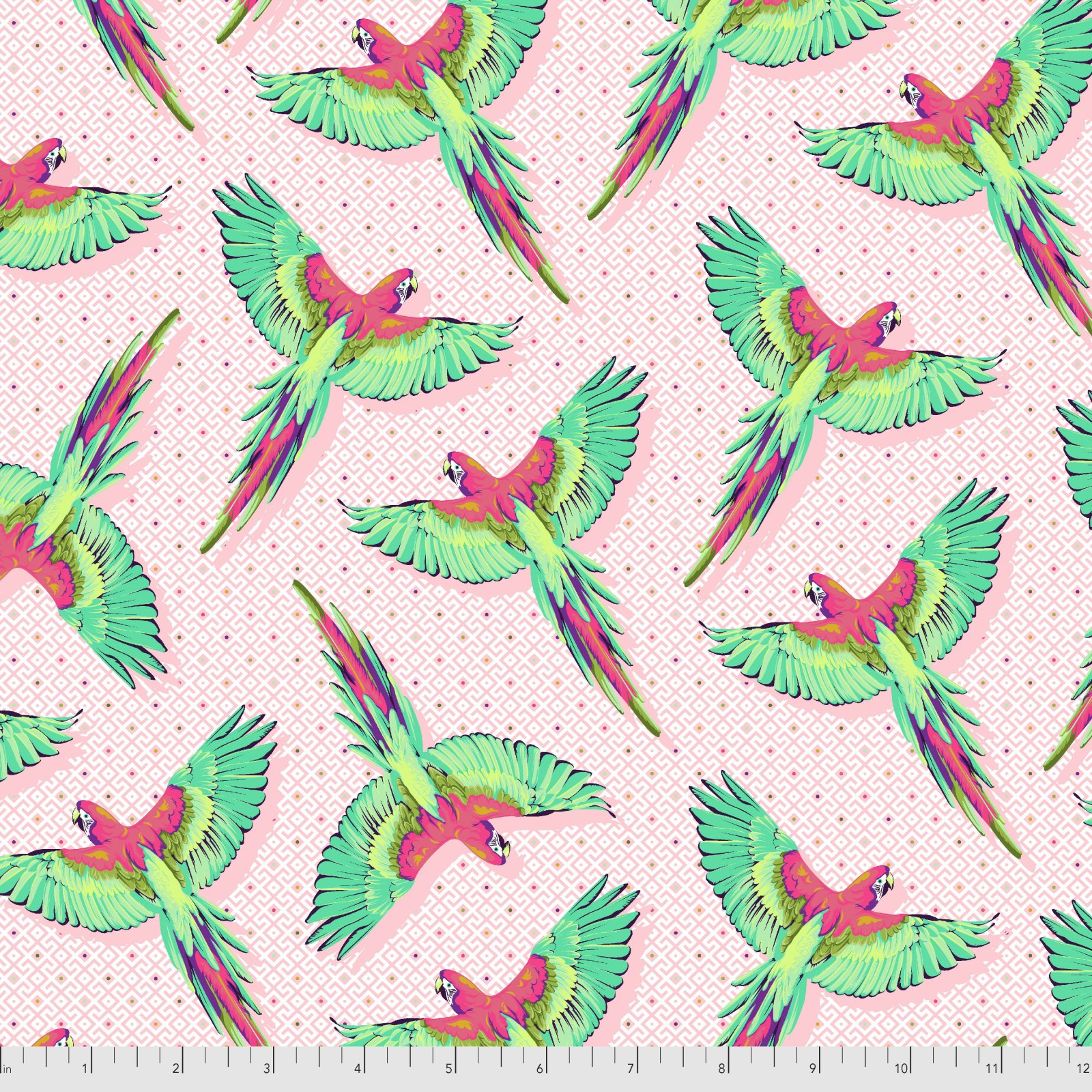 Pre-Order - Daydreamer by Tula Pink for Free Spirit Fabrics - Macaw Ya Later - Dragonfruit