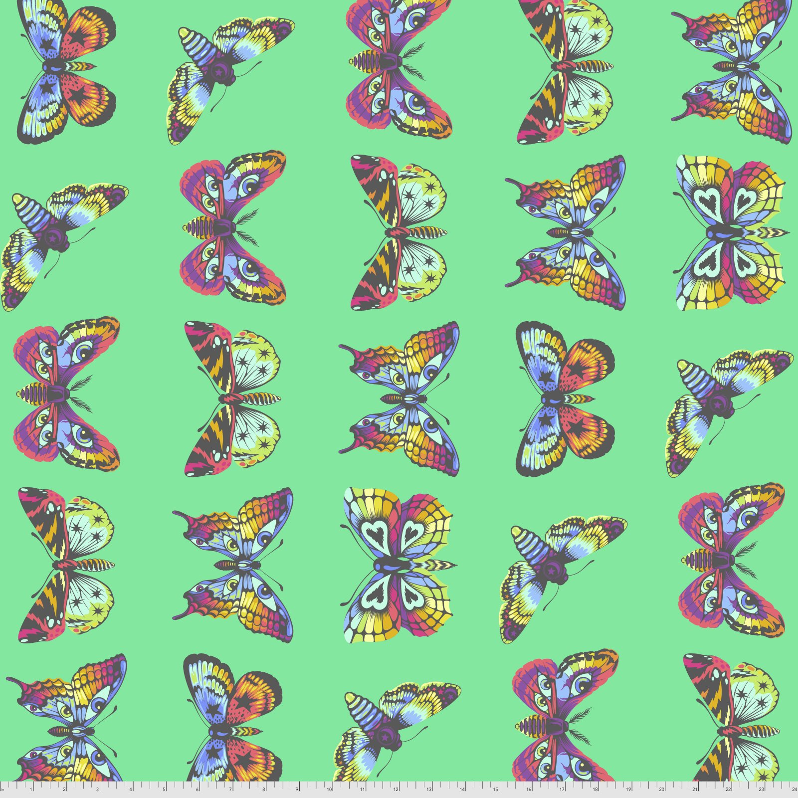 Pre-Order - Daydreamer by Tula Pink for Free Spirit Fabrics - Butterfly Hugs - Lagoon