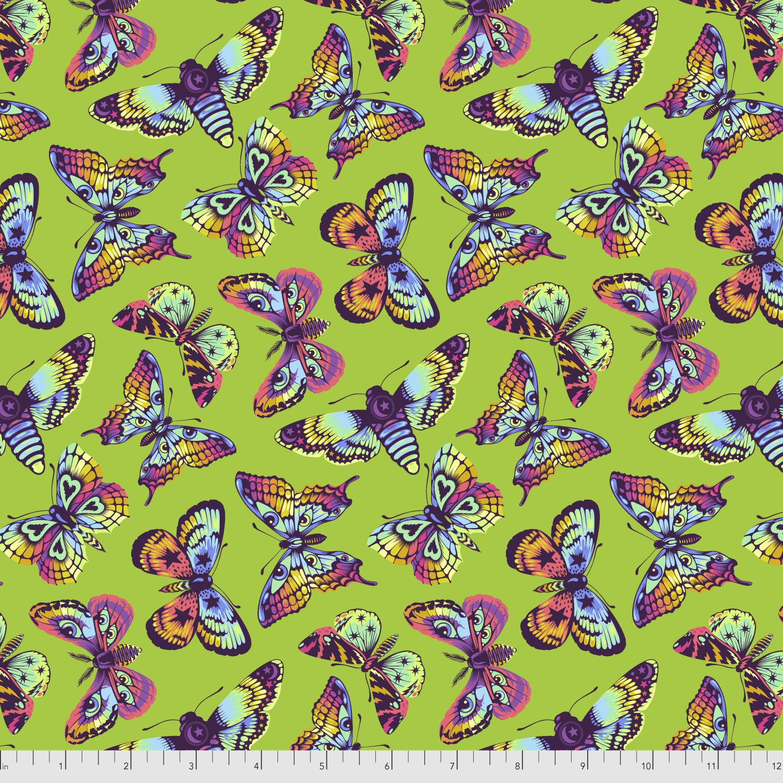 Pre-Order - Daydreamer by Tula Pink for Free Spirit Fabrics - Butterfly Kisses - Avocado