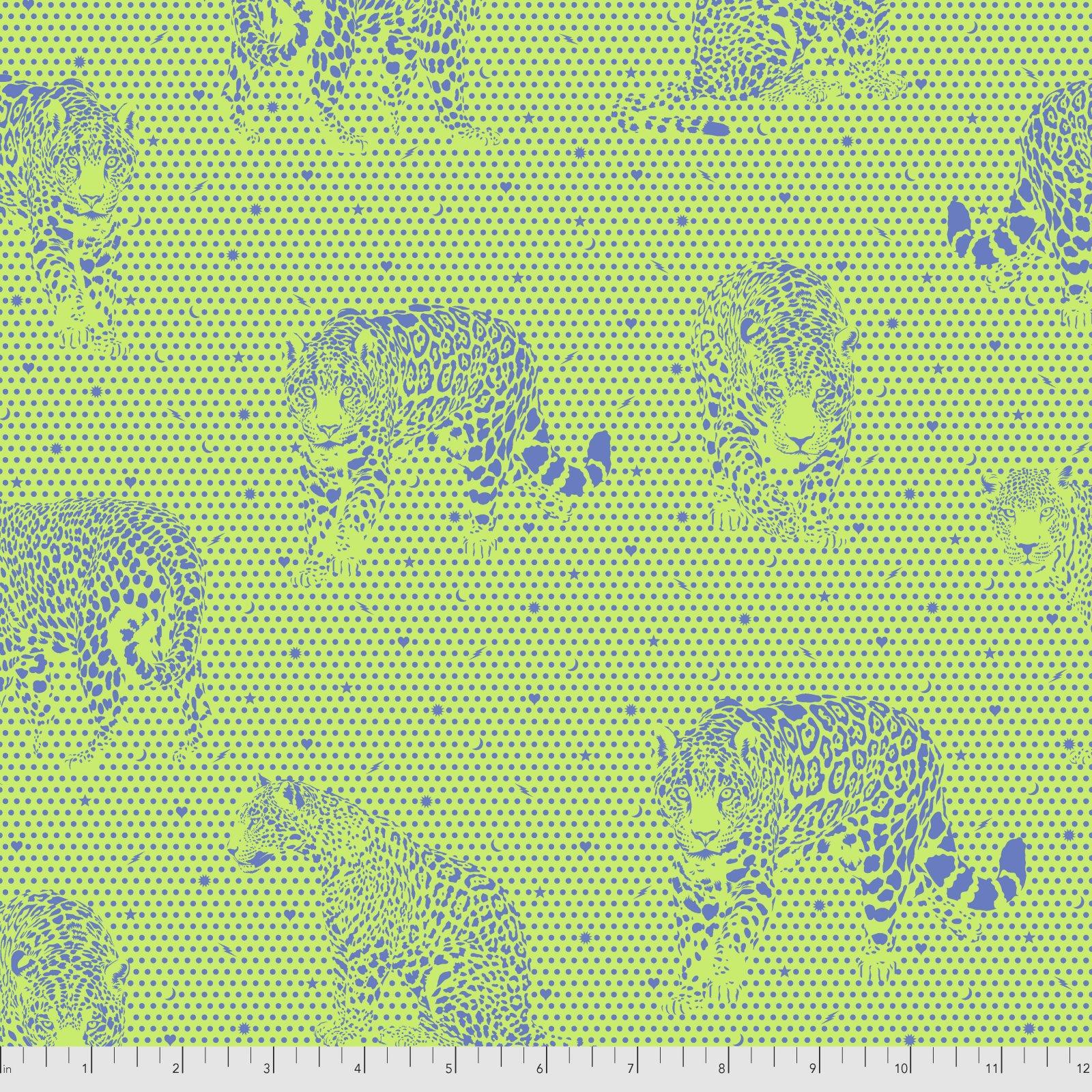 Pre-Order - Daydreamer by Tula Pink for Free Spirit Fabrics - Lil Jaguars - Kiwi -