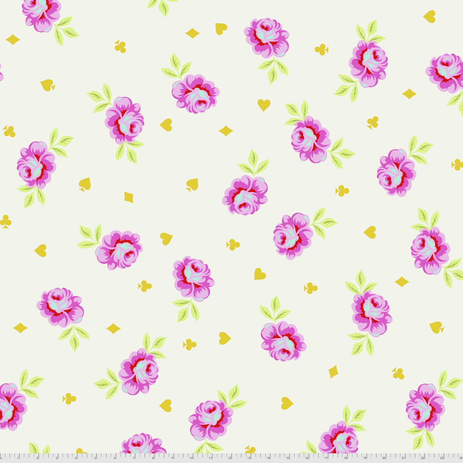 108 Wide Backing Fabric Curiouser & Curiouser by Tula Pink - Big Buds - Wonder