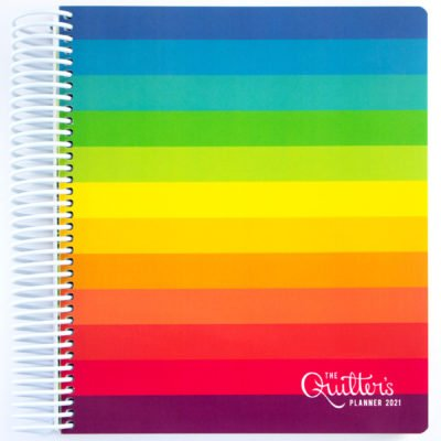 Rainbow Radiant Cover - Sunday Calendar Start- Horizontal Weekly Calendar Layout