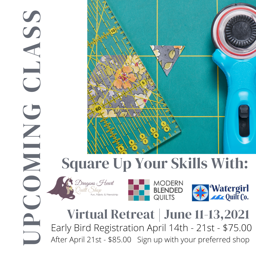 Virtual Retreat - Square Up Your Skills - June 11-13th, 2021