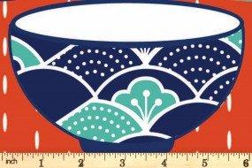Kyoto by Stuart HIllard for Craft Cotton Co. - Rice Bowl - Orange