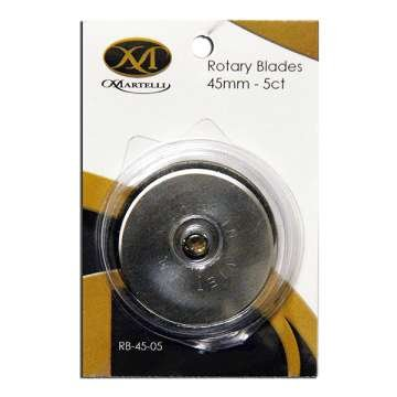 Martelli replacement blades 45 mm - 5 Ct for Ergo Rotary Cutter