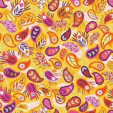 Silk Roads by Ali Brookes for Dashwood Studio - Paisley Yellow