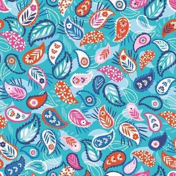 Silk Roads by Ali Brookes for Dashwood Studio - Paisley Bright Blue