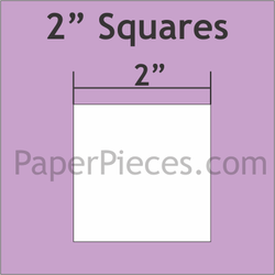 2 Inch Squares - English Paper Pieces - Small Pack 50 Pieces