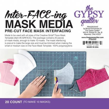 Inter-FACE-ing Mask Media 20 ct by Gypsy Quilter