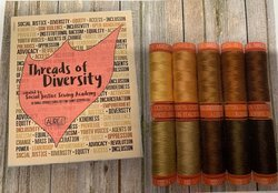 Threads of Diversity by Social Justice Sewing Academy - 10 Small Spools Aurifil 50 wt