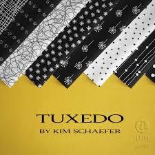Tuxedo by Kim Schaefer for Andover Fabrics - 16 Fat Quarter Bundle