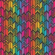 Art Theory by Alison Glass - Rainbow Feather Dark
