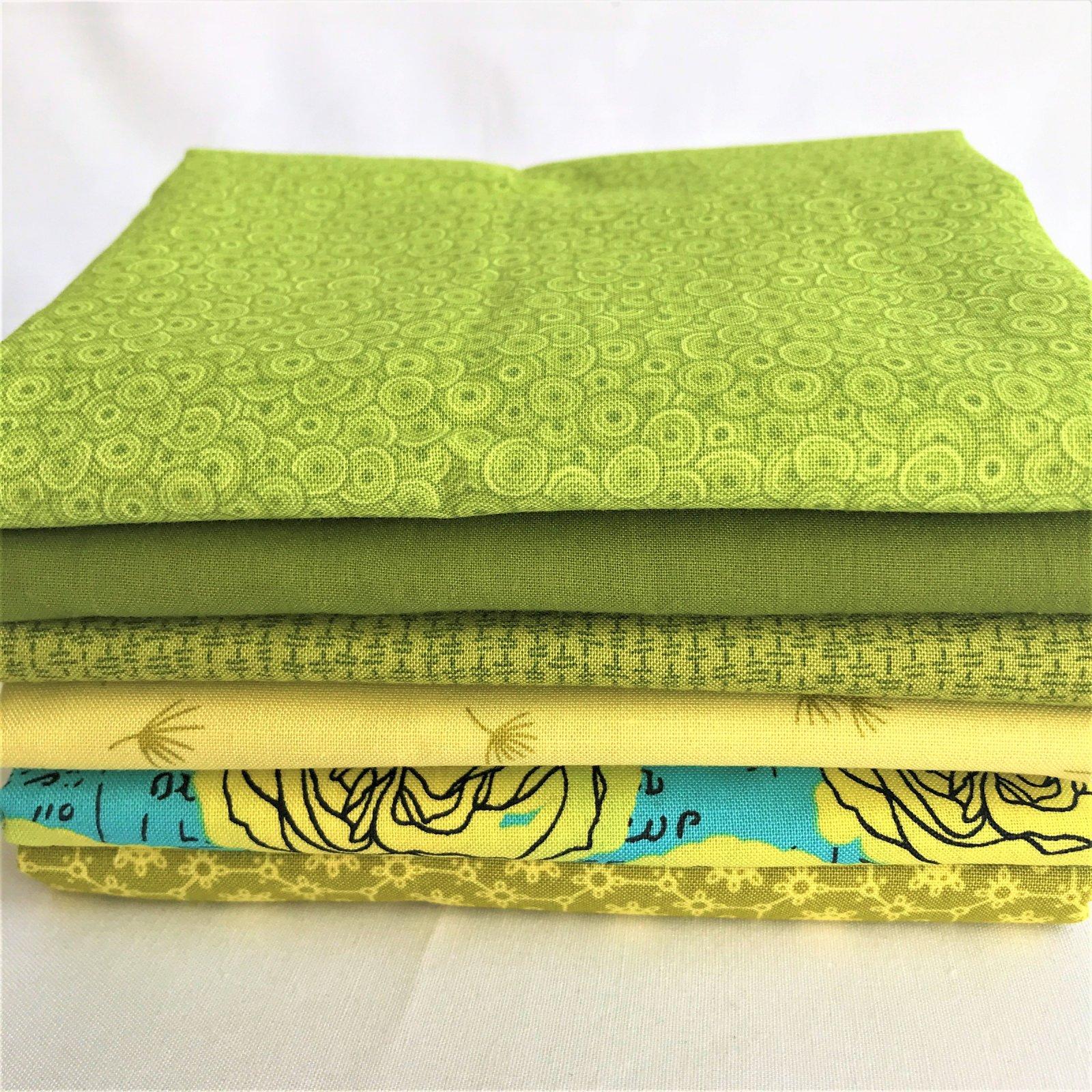 Viridescent Green 6-Fabric Bundle