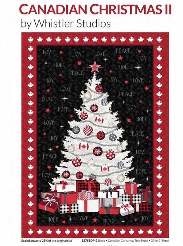 Canadian Christmas 2 Tree Panel