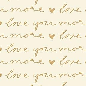 Pen Pal by Clothworks - Love You More - Natural