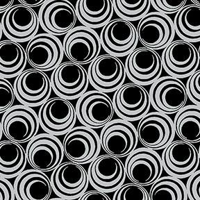Ruby Night by Clothworks - Concentric Circles - Black and Grey