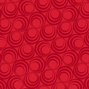Ruby Night by Clothworks - Concentric Circles - Ruby Red