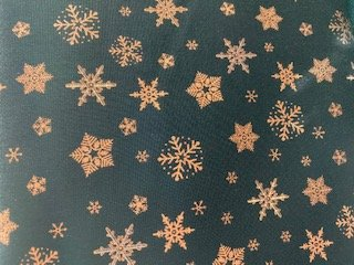 Glimmer Black with Bronze Snowflakes