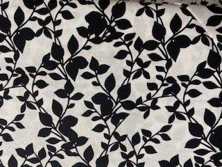 Black vine on white