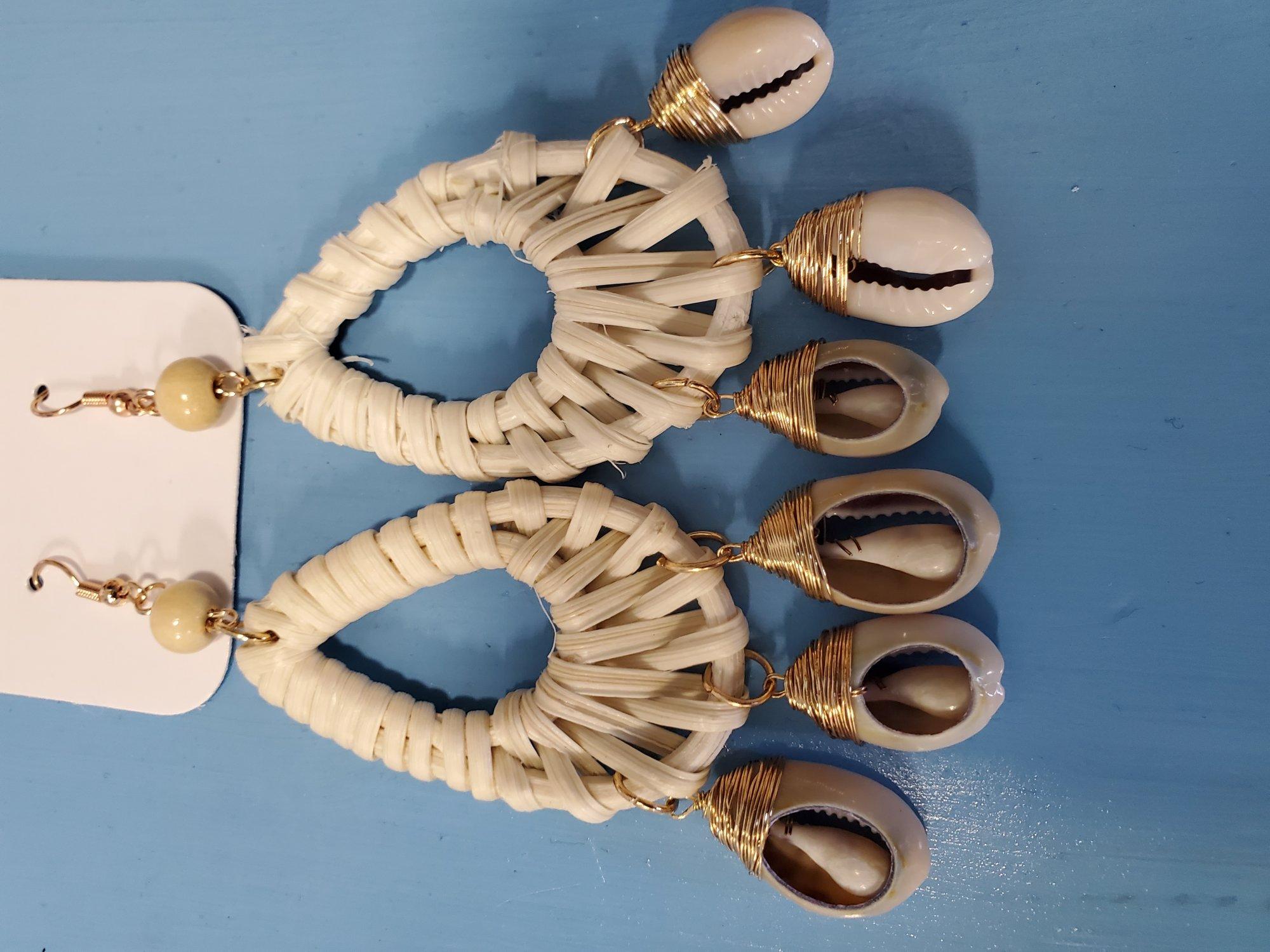 Sea Shell Earrings Weave