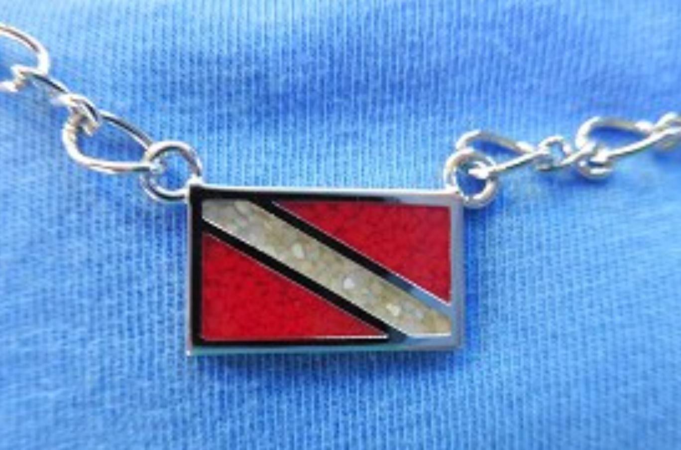 Dive Flag Pendant Necklace