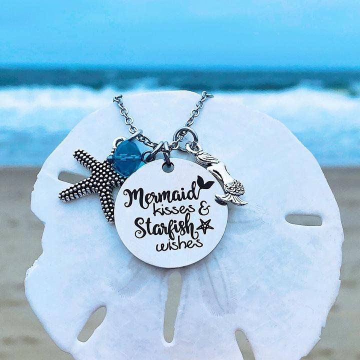 Mermaid Kisses & Starfish Wishes Necklace
