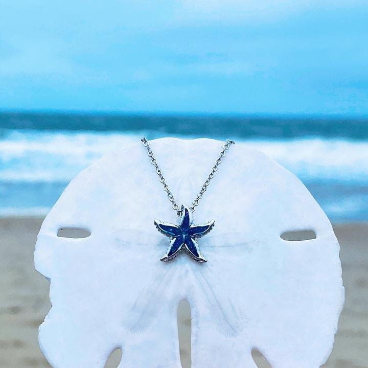 Opal Starfish Necklace (small)