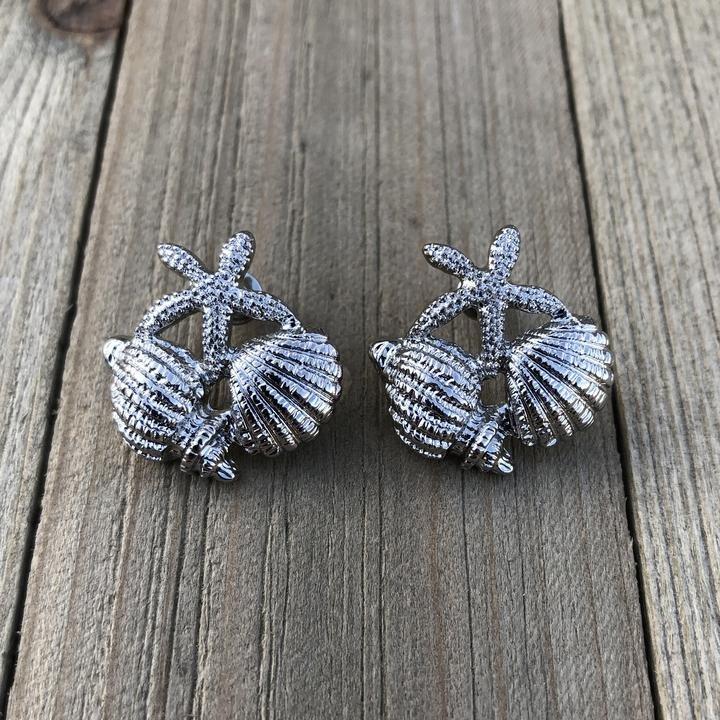 Silver Ocean Earrings