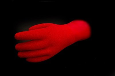 KUBI Replacement Dry Gloves Red Heavyweight Textured