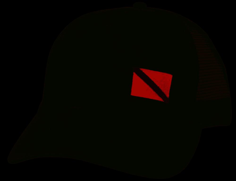 ISC Mesh Cap w/ Dive Flag