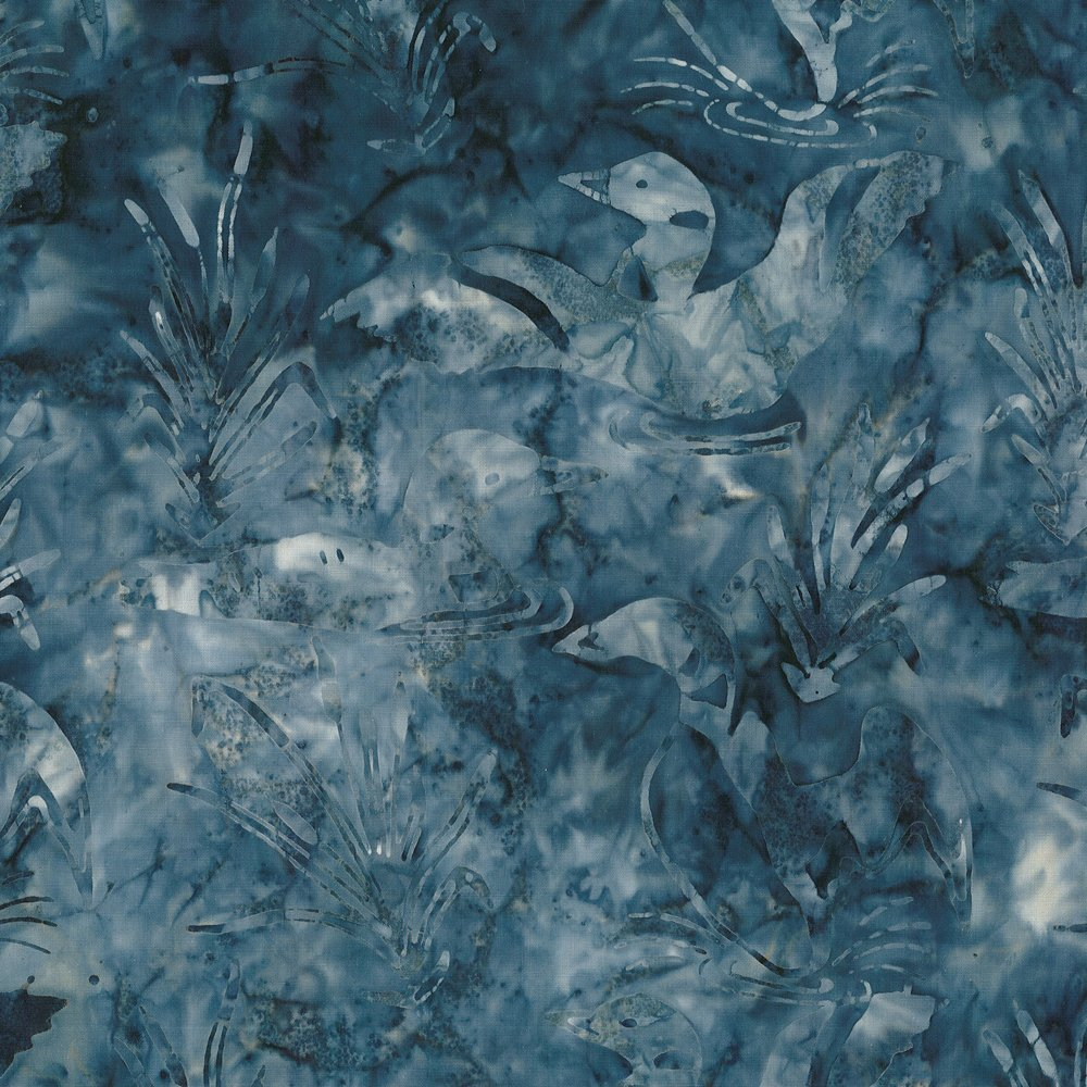 CABA-1018 480 - LOONS & CATTAILS BY SHANIA SUNGA BLUE GREY INSPIRATIONS