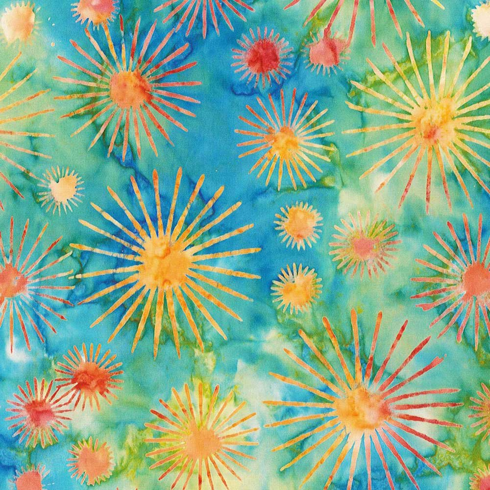 CABA-1029 154 - DANDELION BLOOM BY SHANIA SUNGA GREEN/BLUE/RED/YELLOW-Delivery October 2020