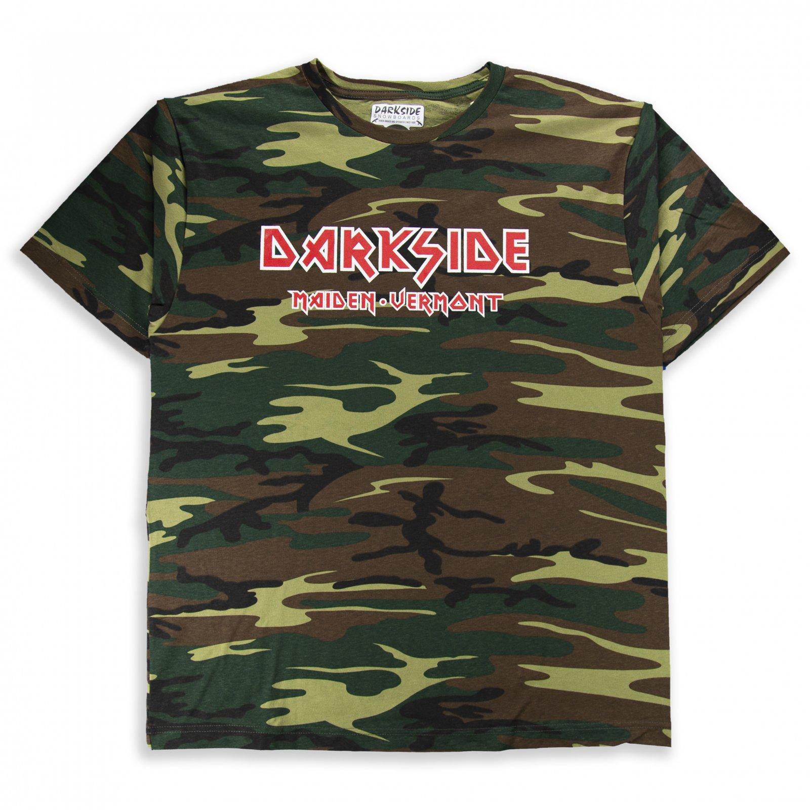 Darkside Maiden Vermont Short Sleeve Shirt Army Camo