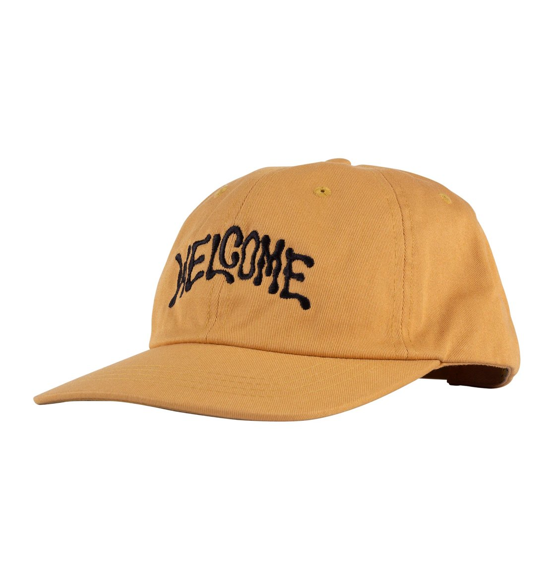 Welcome Droop Unstructured Snapback Hat
