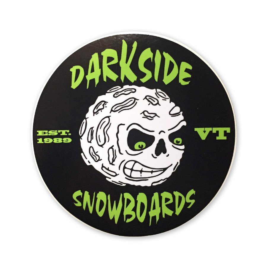 Darkside Angry Moon Circle Sticker