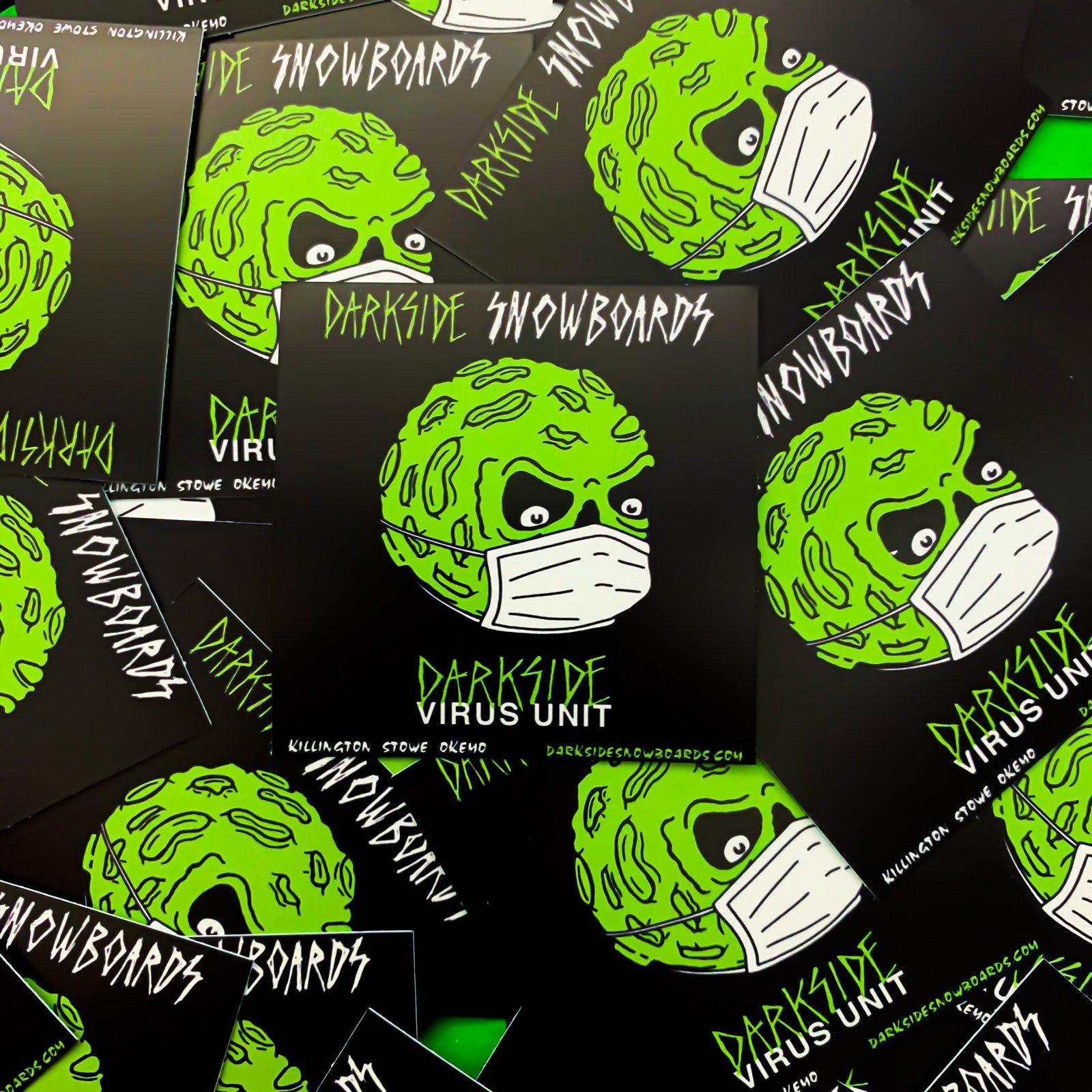 Darkside Angry Moon Virus Unit Sticker