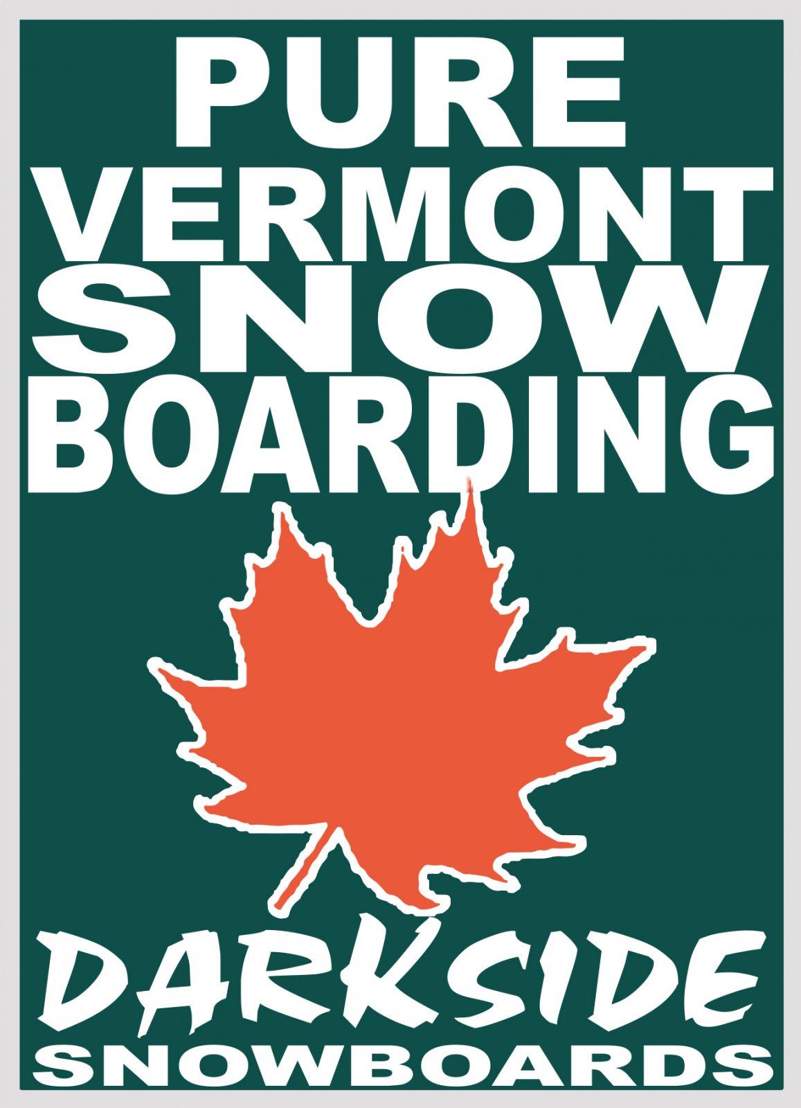 Pure Vermont Snowboarding Sticker