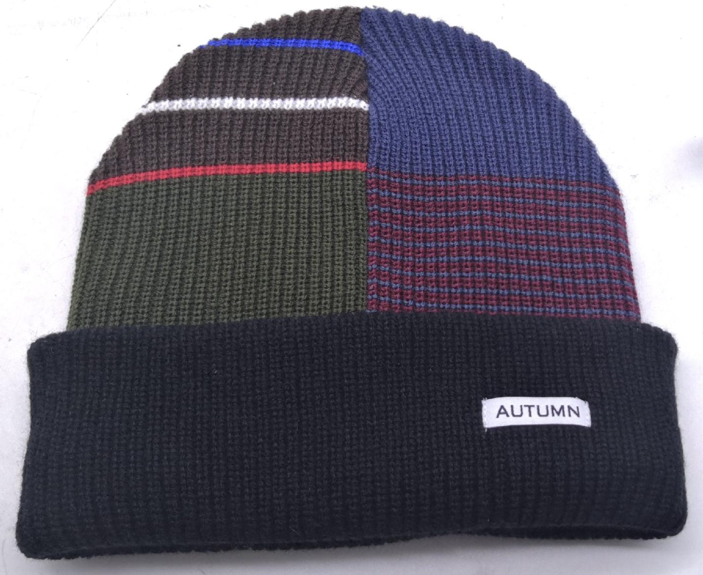 Autumn Patchwork Select Beanie (Multiple Color Options)