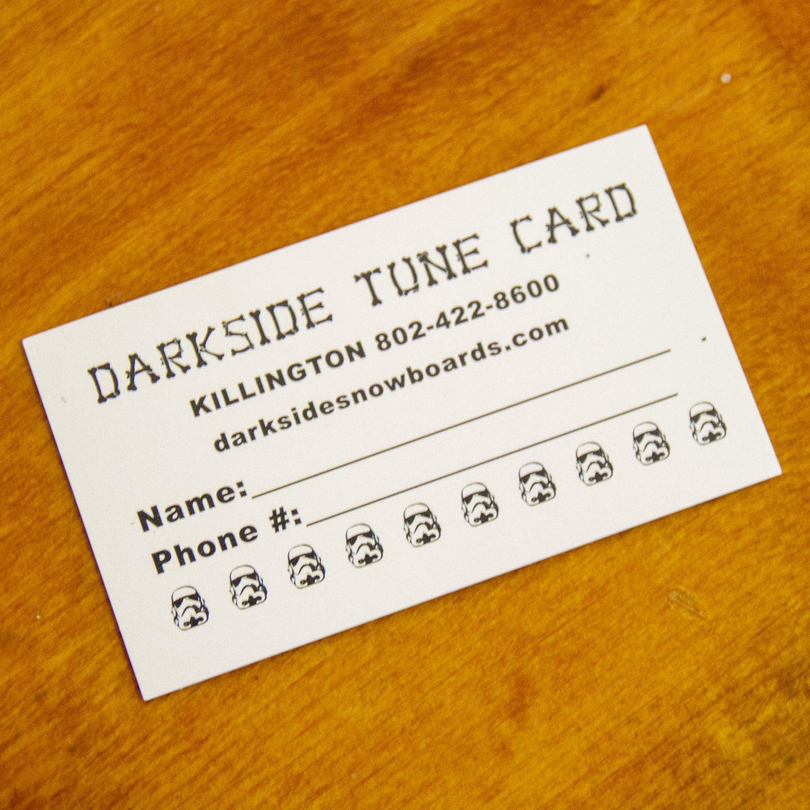Darkside 10 Tune Punch Card