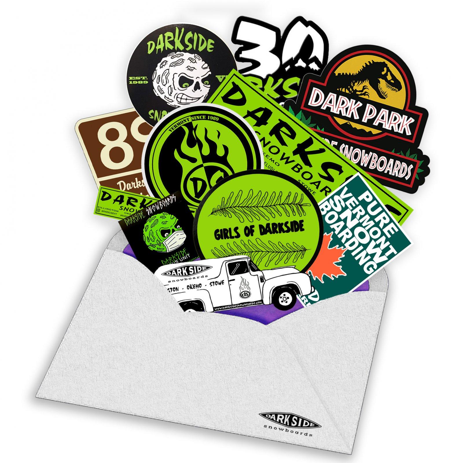 Darkside Snowboards Sticker Pack