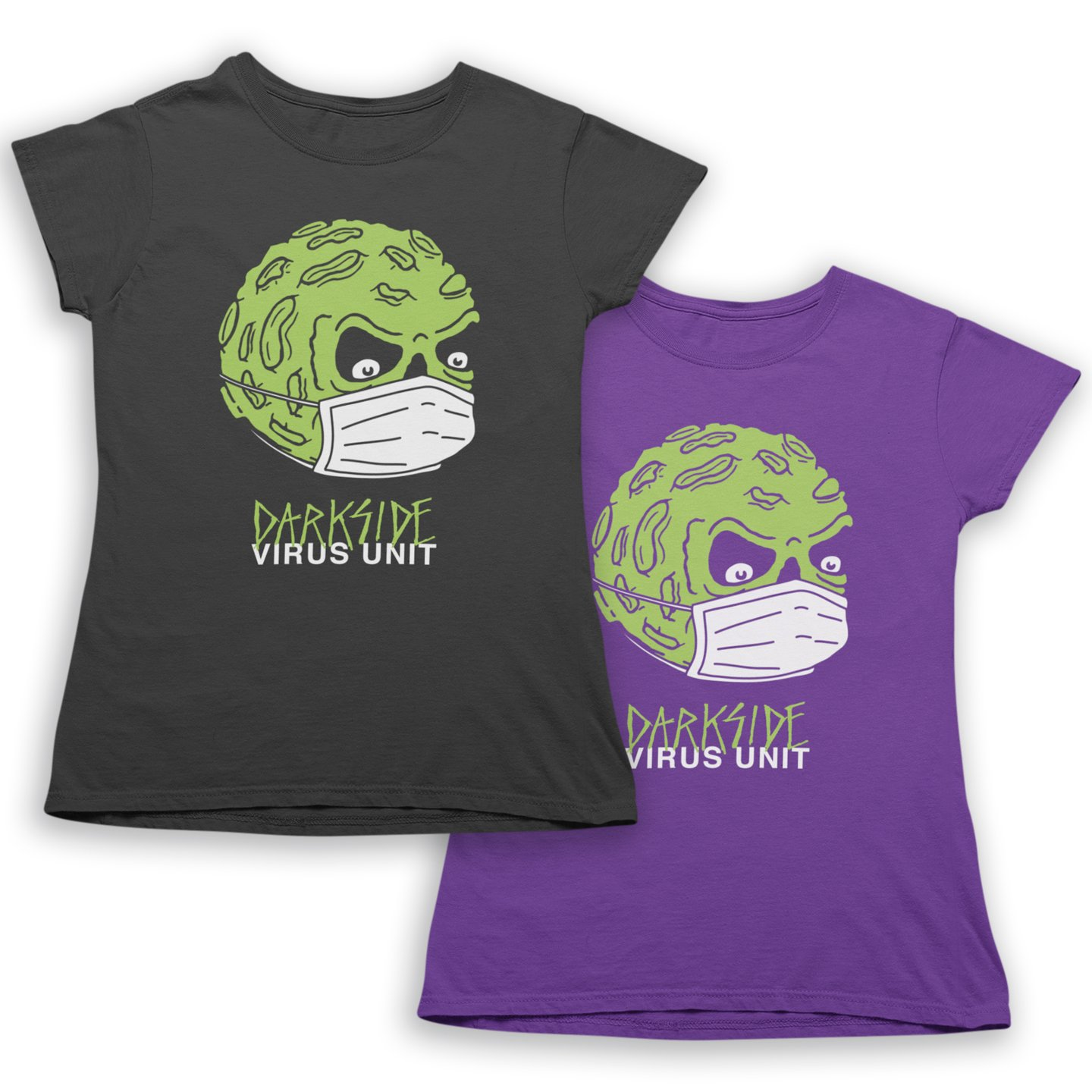 Darkside Angry Moon Virus Unit Women's Short Sleeve Tee (Multiple Color Options)