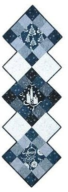 ACOT-K1012 BLU - ELEGANT TRADITIONS BLUE TABLE RUNNER KIT BY A COTTON TREASUR