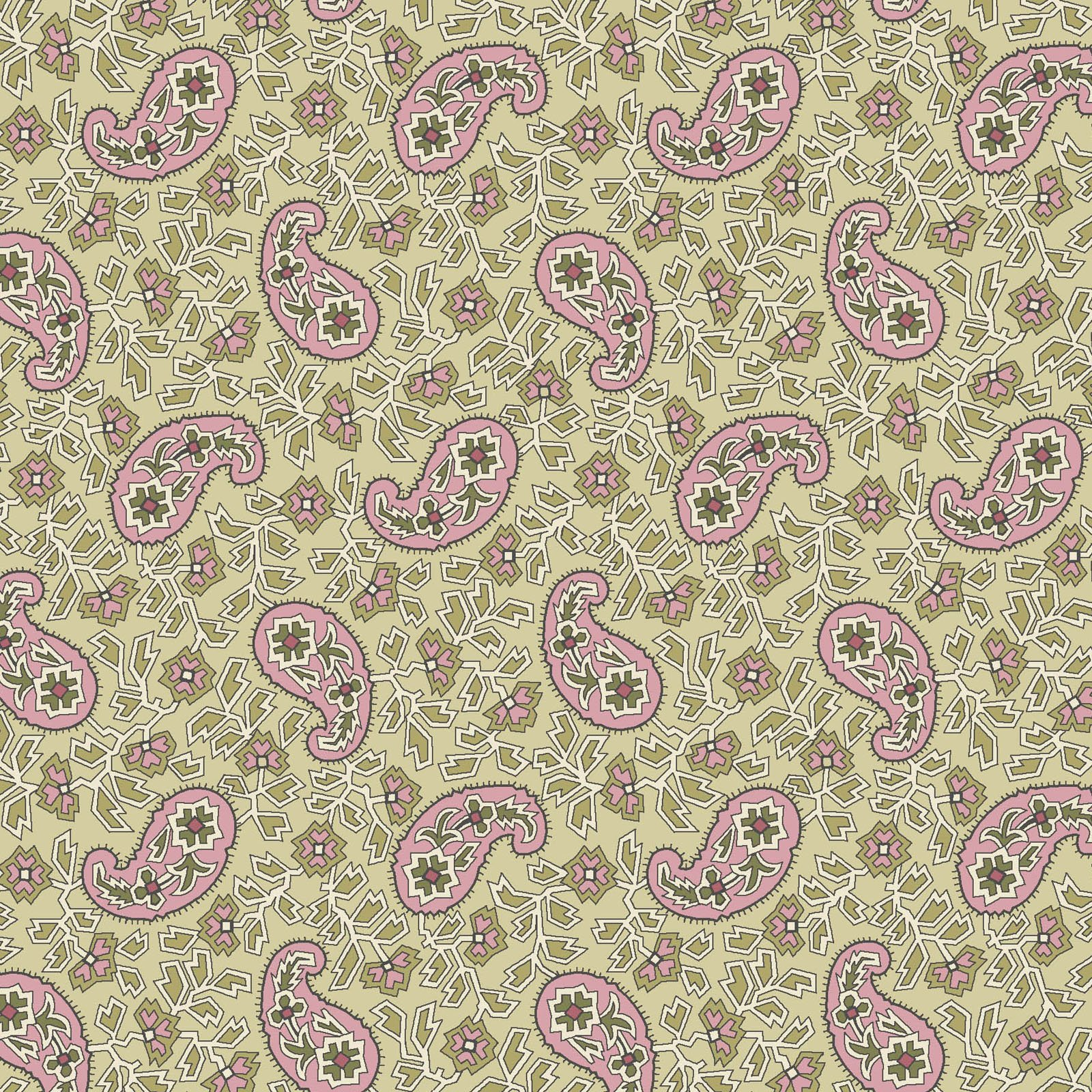 ANAS-4247 G - ANASTASIA - RED BY P&B BOUTIQUE PAISLEY GREEN