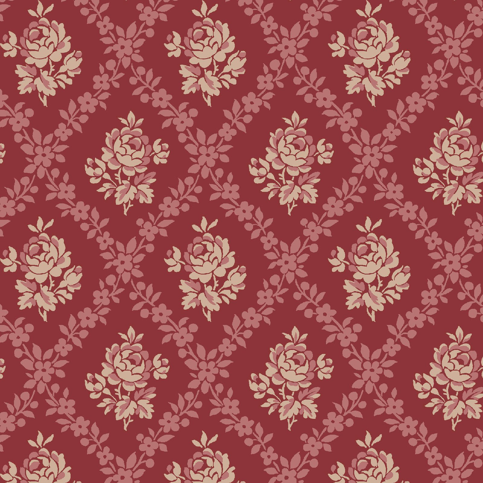 ANAS-4248 R - ANASTASIA - RED BY P&B BOUTIQUE DAMASK RED