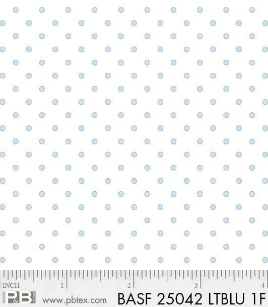 BASF-F25042 LTBLU - BASICALLY HUGS FLANNEL BY HELEN STUBBINGS DOTS LT BLUE