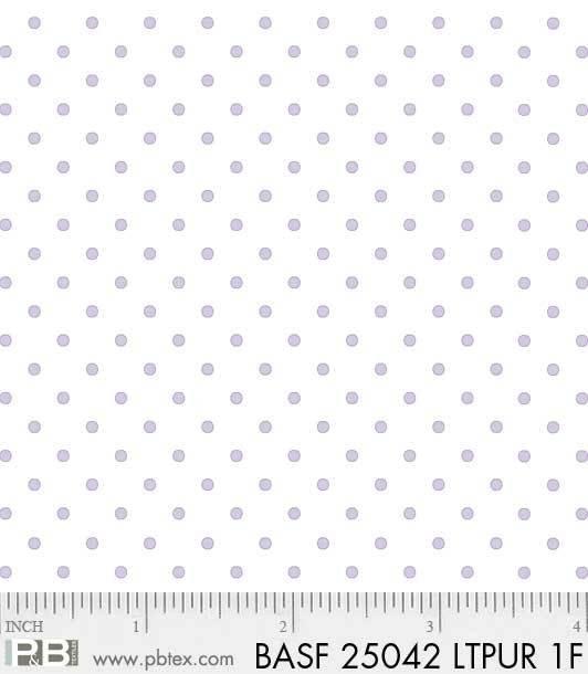 BASF-F25042 LTPUR - BASICALLY HUGS FLANNEL BY HELEN STUBBINGS DOTS LT PURPLE